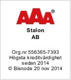Stalon har hogsta kreditvardighet - AAA